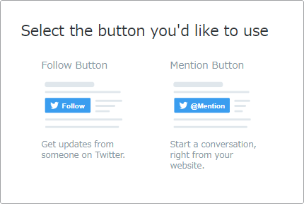 Select the button you'd like to use